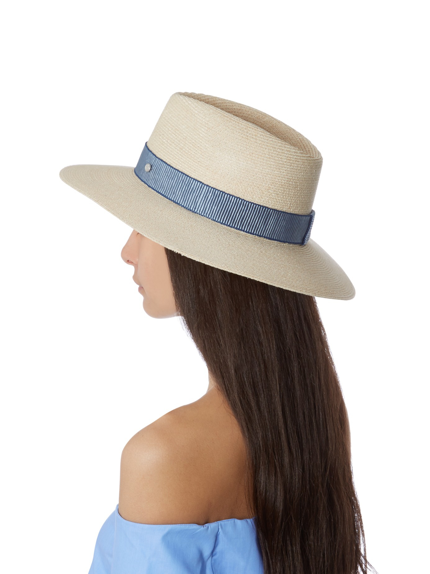 Lyst - Maison Michel Charles Capana Straw Hat in Blue d1e2a7e7ee7
