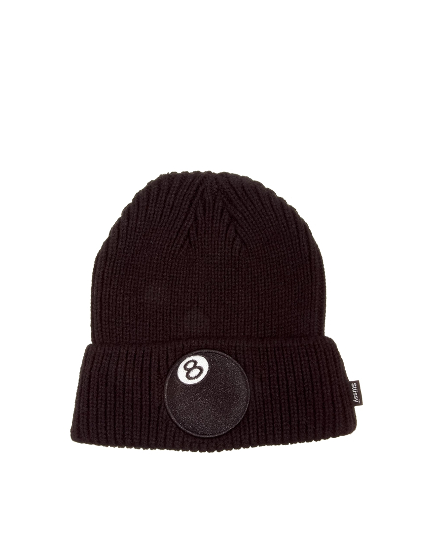 Lyst - Stussy 8 Ball Cuff Beanie Hat in Black for Men c1dc97801ff