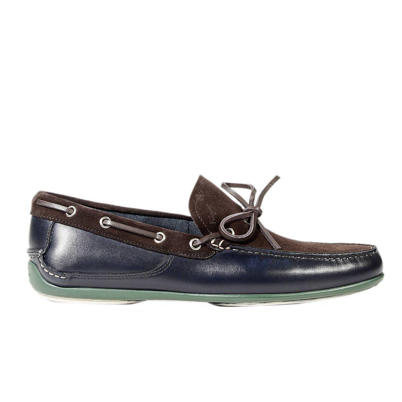 Ferragamo Shoes Mango Loafer Sole Boat in Blue for Men - Lyst