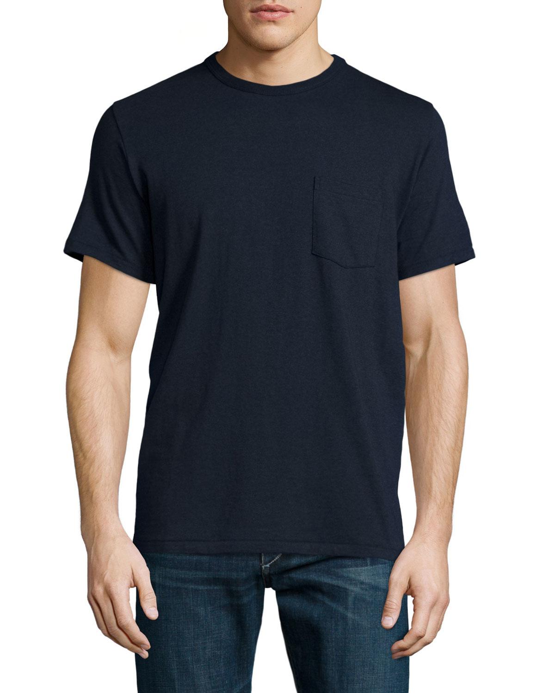 Rag bone standard issue short sleeve pocket t shirt in for Rag bone shirt