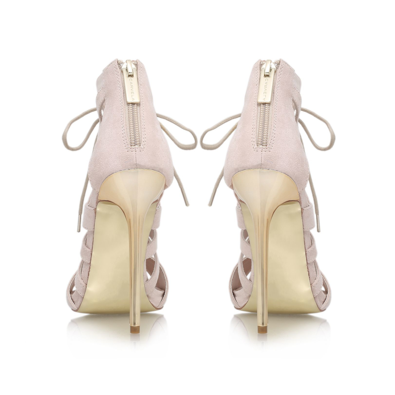 Carvela Kurt Geiger Synthetic Game High Heel Lace Up Shoe Boots in Nude (Natural)
