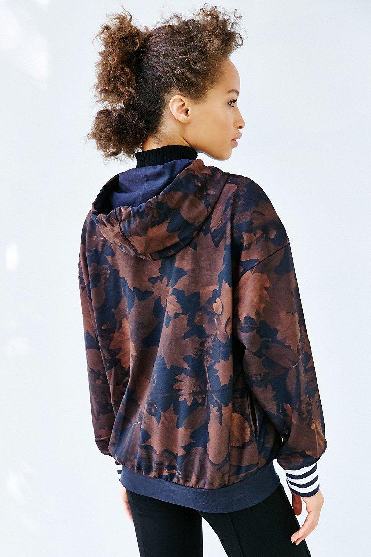 adidas originals leaf camo hoodie sweatshirt in multicolor. Black Bedroom Furniture Sets. Home Design Ideas