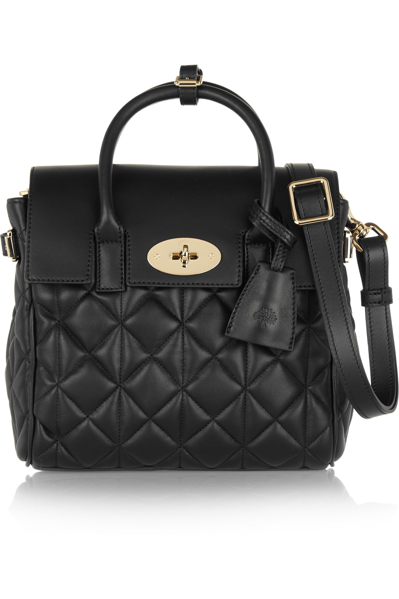 1d6efeb1c1 ... authentic mulberry cara delevigne mini quilted leather backpack in  black lyst ca470 56772