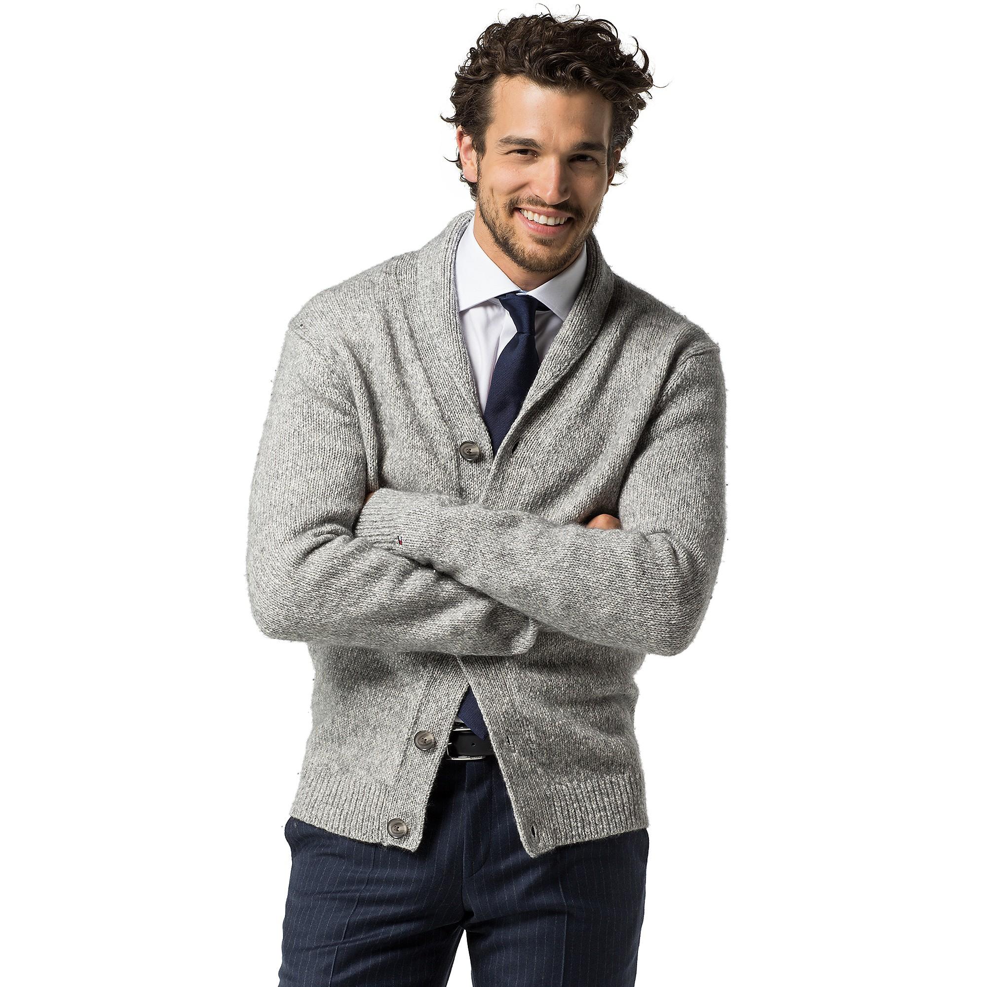Next Mens Grey Shawl Cardigan - Sweater Grey