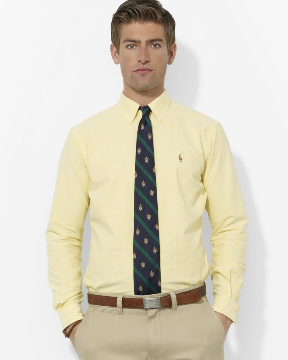209e582fd459 Lyst - Ralph Lauren Polo Classic Solid Oxford Shirt - Regular Fit in ...