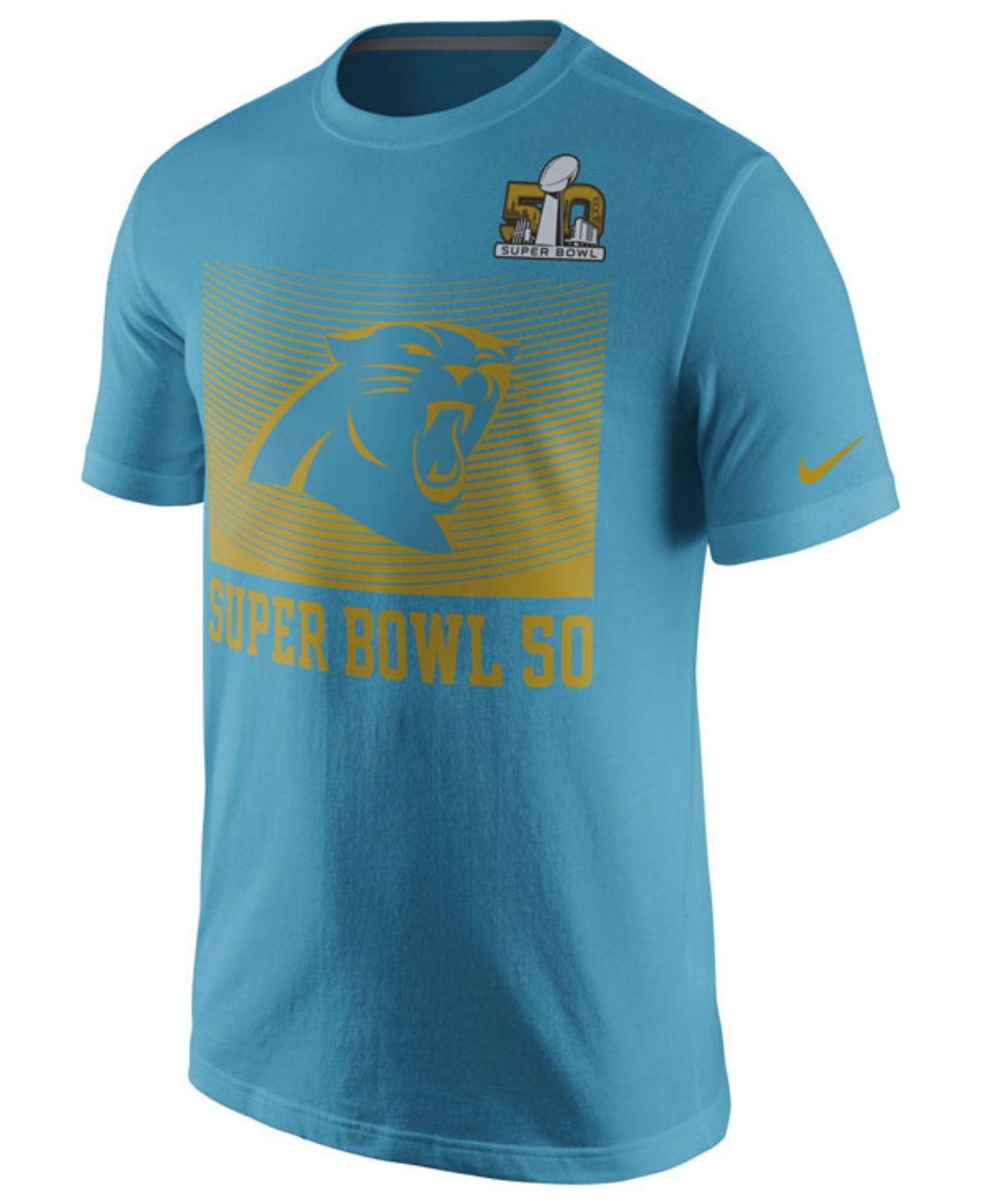 Nike Men 39 S Carolina Panthers Super Bowl 50 Media T Shirt