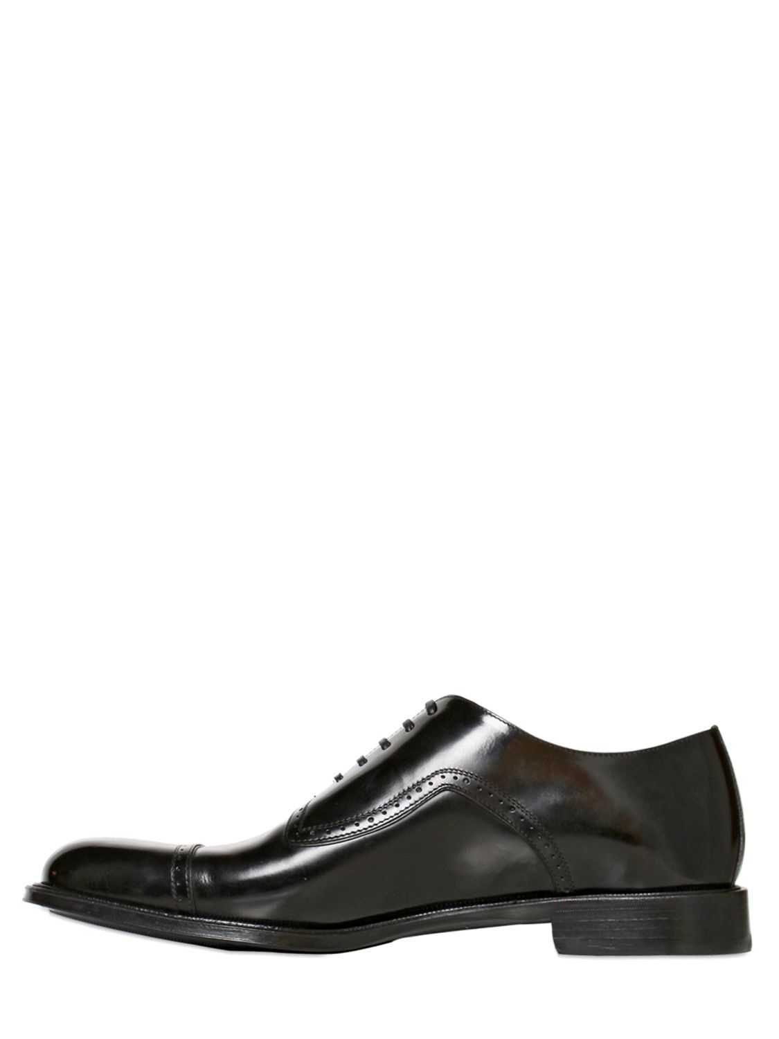 Dolce & Gabbana Siena Brushed Calf Oxford Lace Up Shoes in Black for Men