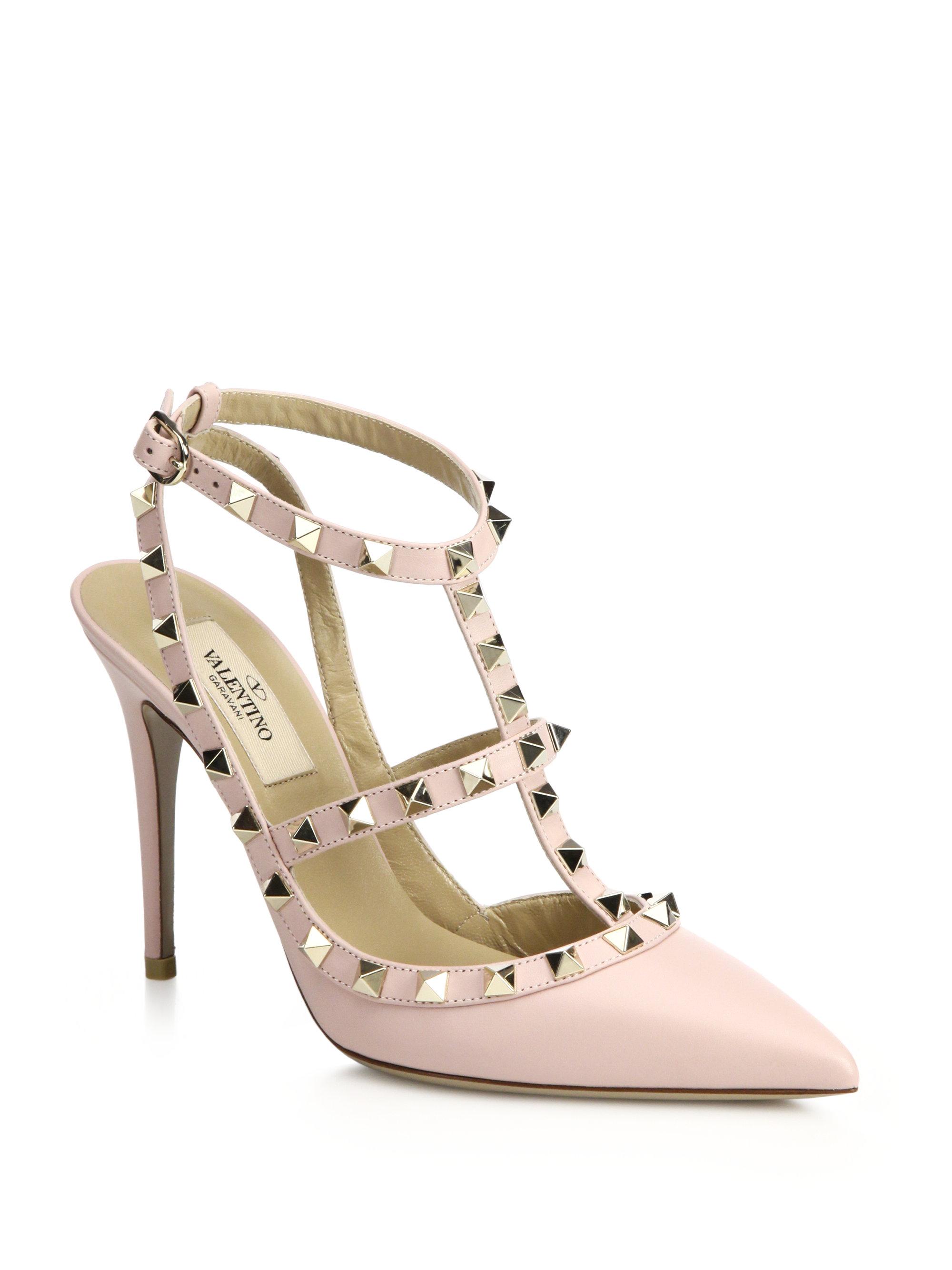 Pink Stud Heels