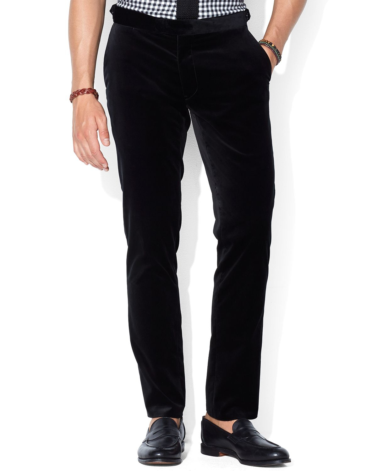 Lyst Ralph Lauren Polo Slim Fit Hudson Velvet Pants In