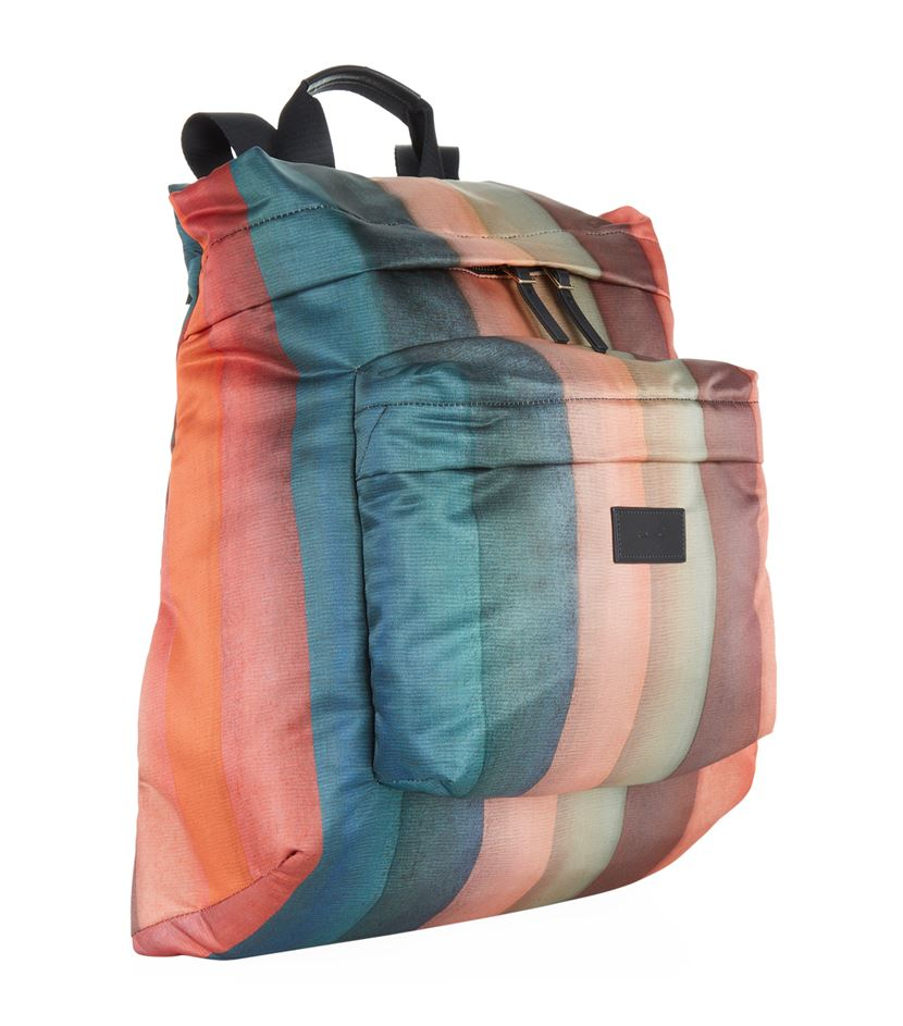 Paul Smith Synthetic Painted Rainbow Stripe Backpack for Men