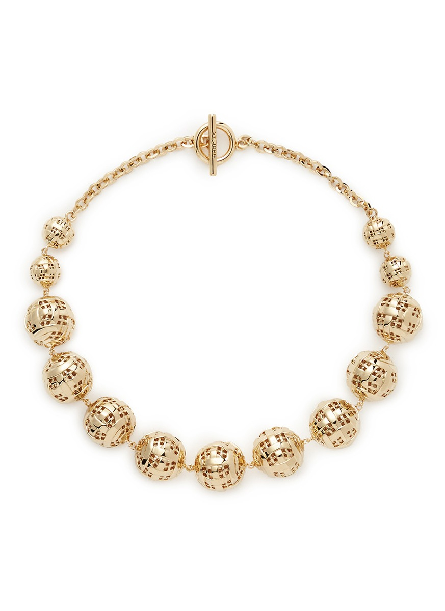 st disco necklace in metallic lyst