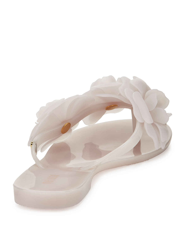 Lyst melissa harmonic garden flowerembellished thong sandals white gallery mightylinksfo