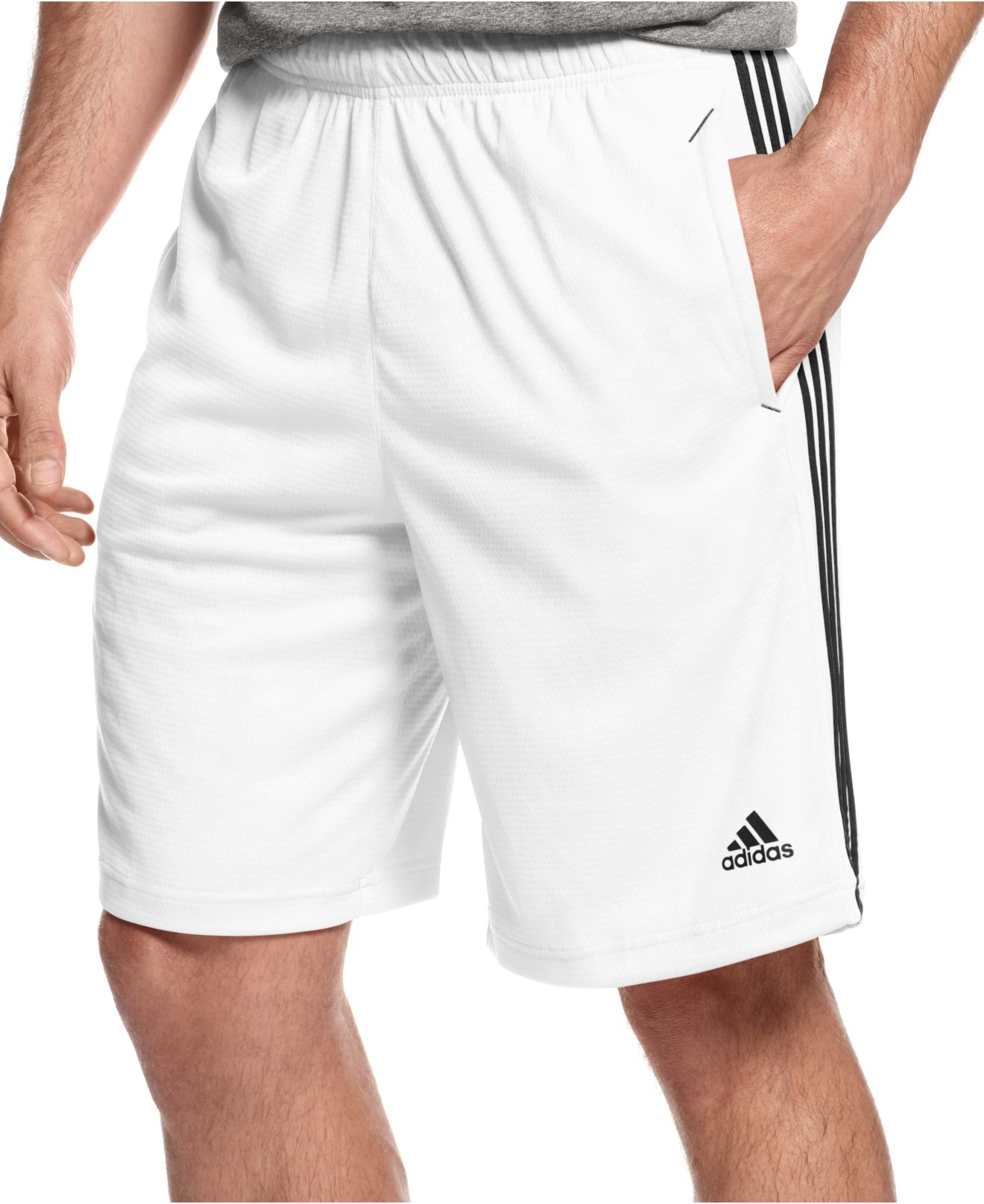 lyst adidas originals men 39 s climalite essential shorts. Black Bedroom Furniture Sets. Home Design Ideas