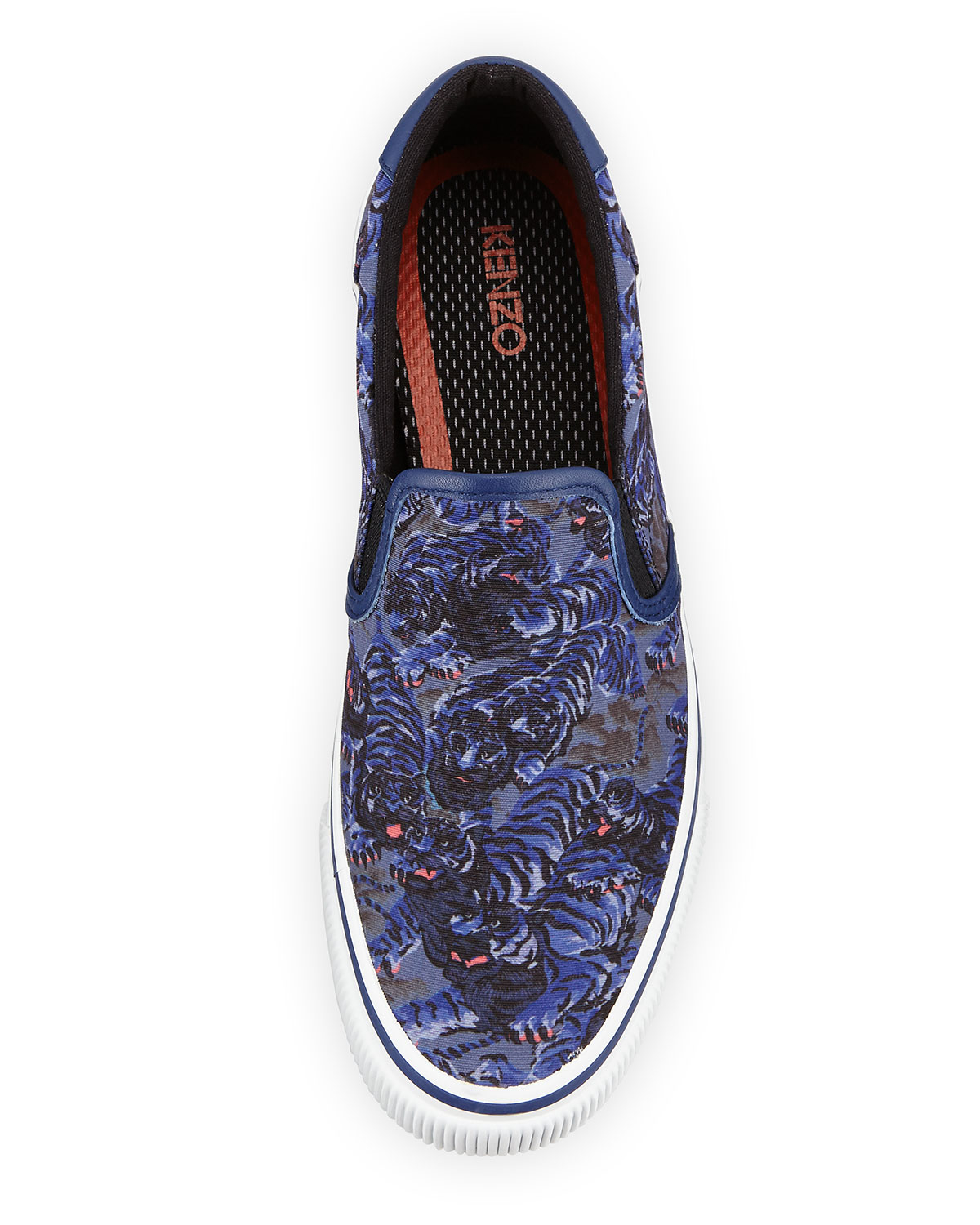 44e00a2f KENZO Blue Flying Tiger Canvas Sneakers for men