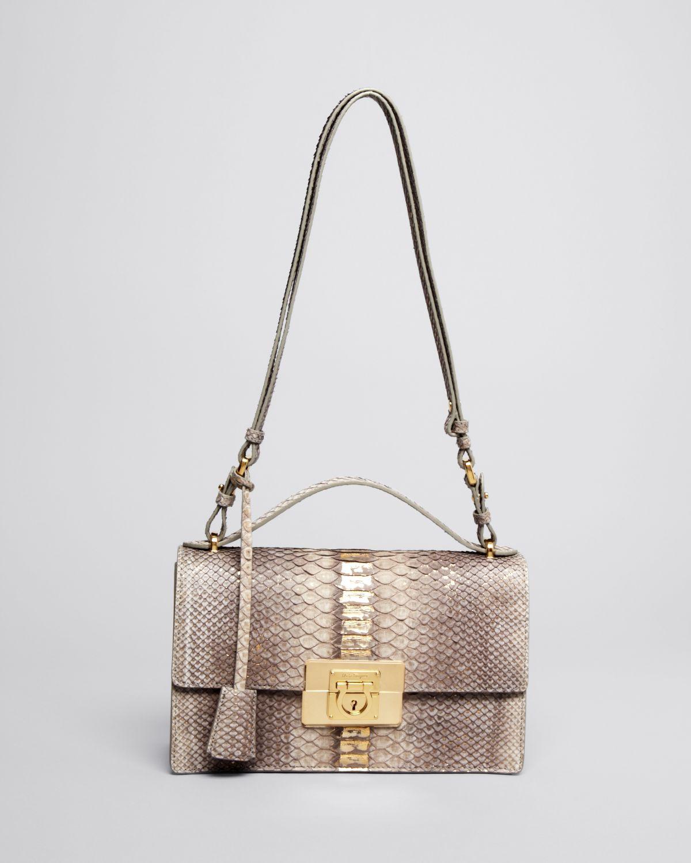 3436da69e1 Lyst - Ferragamo Shoulder Bag - Aileen Python