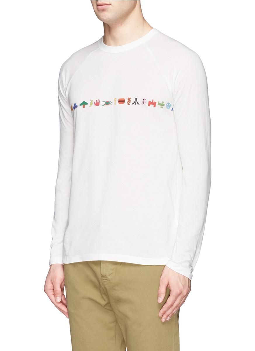 Band Of Outsiders Atari Icon Print Long Sleeve T Shirt In