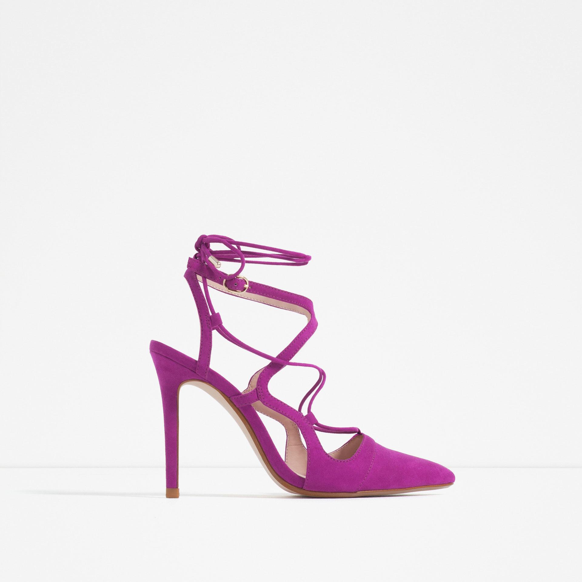 Purple Lace High Heels