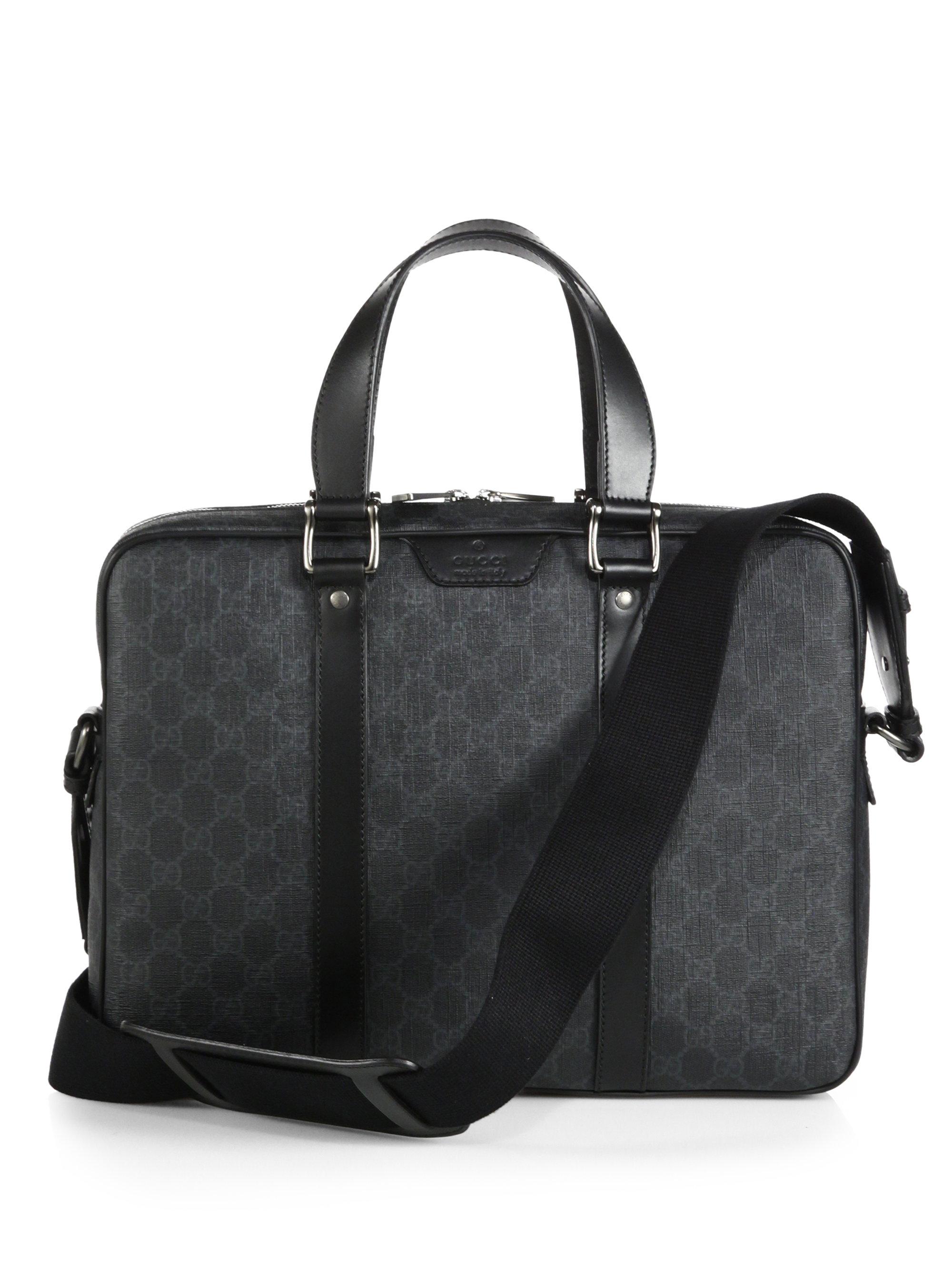 fa72e17a8248 Gucci Gg Supreme Canvas Briefcase in Gray for Men - Lyst
