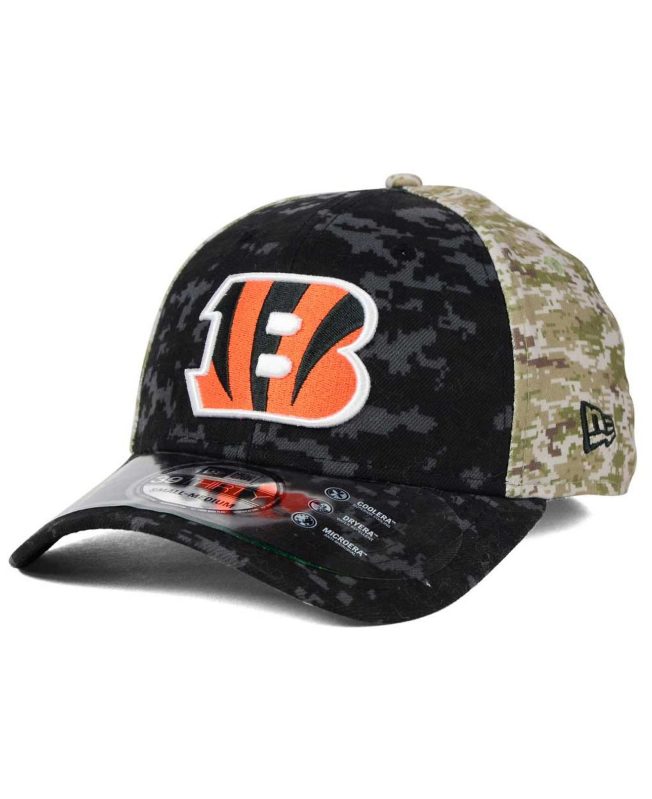 reputable site cbe30 08c7b KTZ Cincinnati Bengals Salute To Service 39thirty Cap in Black for ...