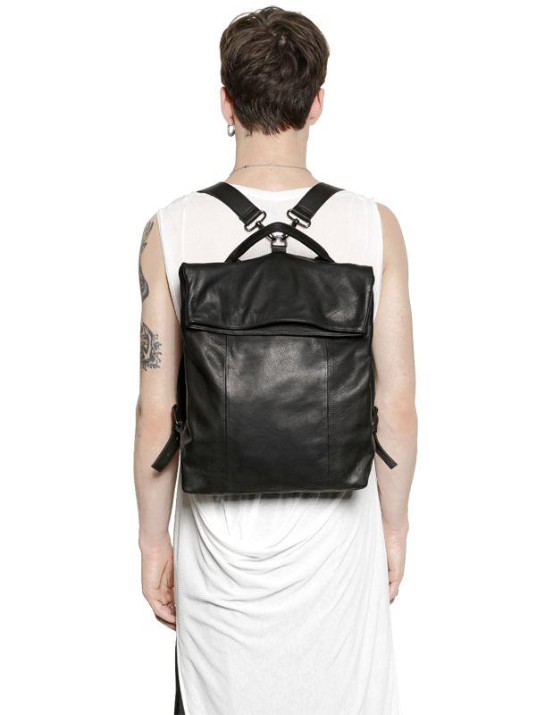 Tom Rebl Nappa Leather Backpack in Black