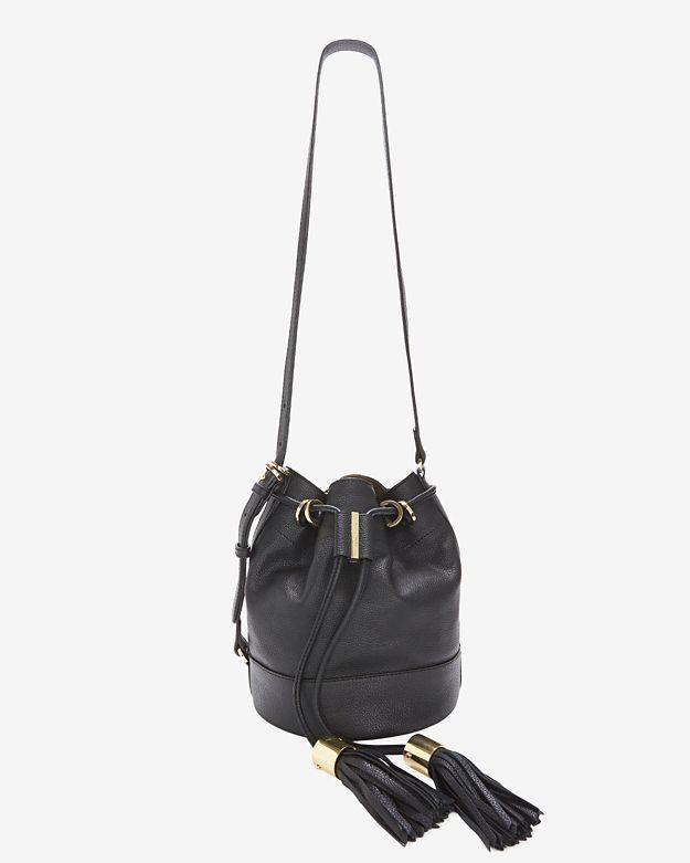 75e1457399c3f See By Chloé Vicki Tassel Bucket Bag: Black in Black - Lyst