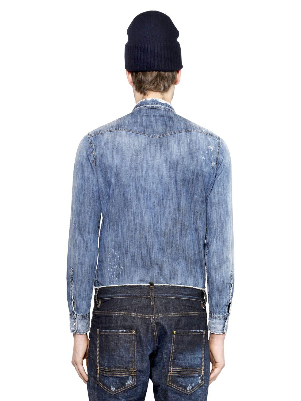 4d003dce Lyst - DSquared² Cotton Denim Worker Jumpsuit in Blue for Men