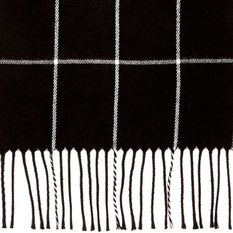 river island black window pane pattern scarf for lyst