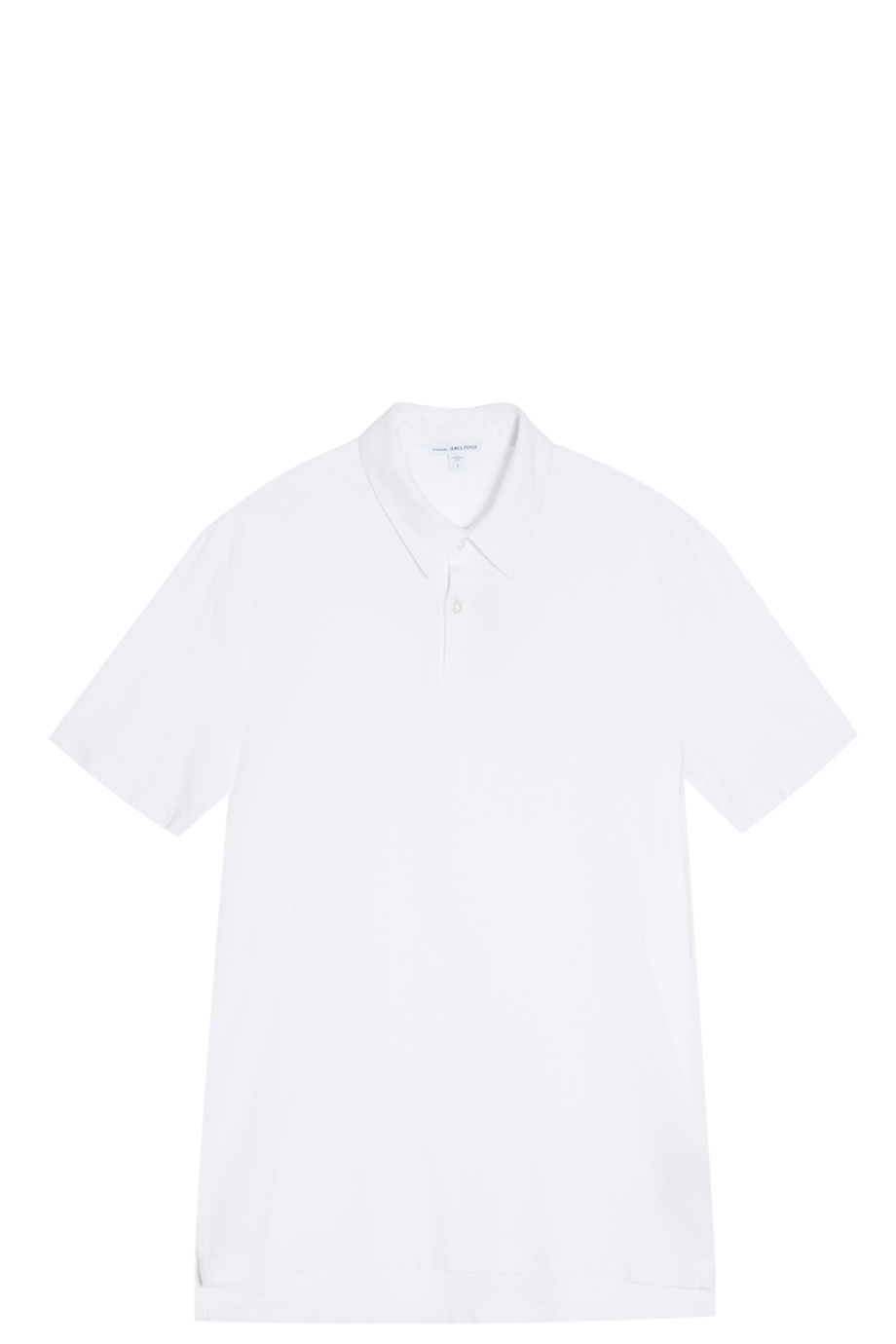 James perse pique polo t shirt in white for men lyst for James perse t shirts sale