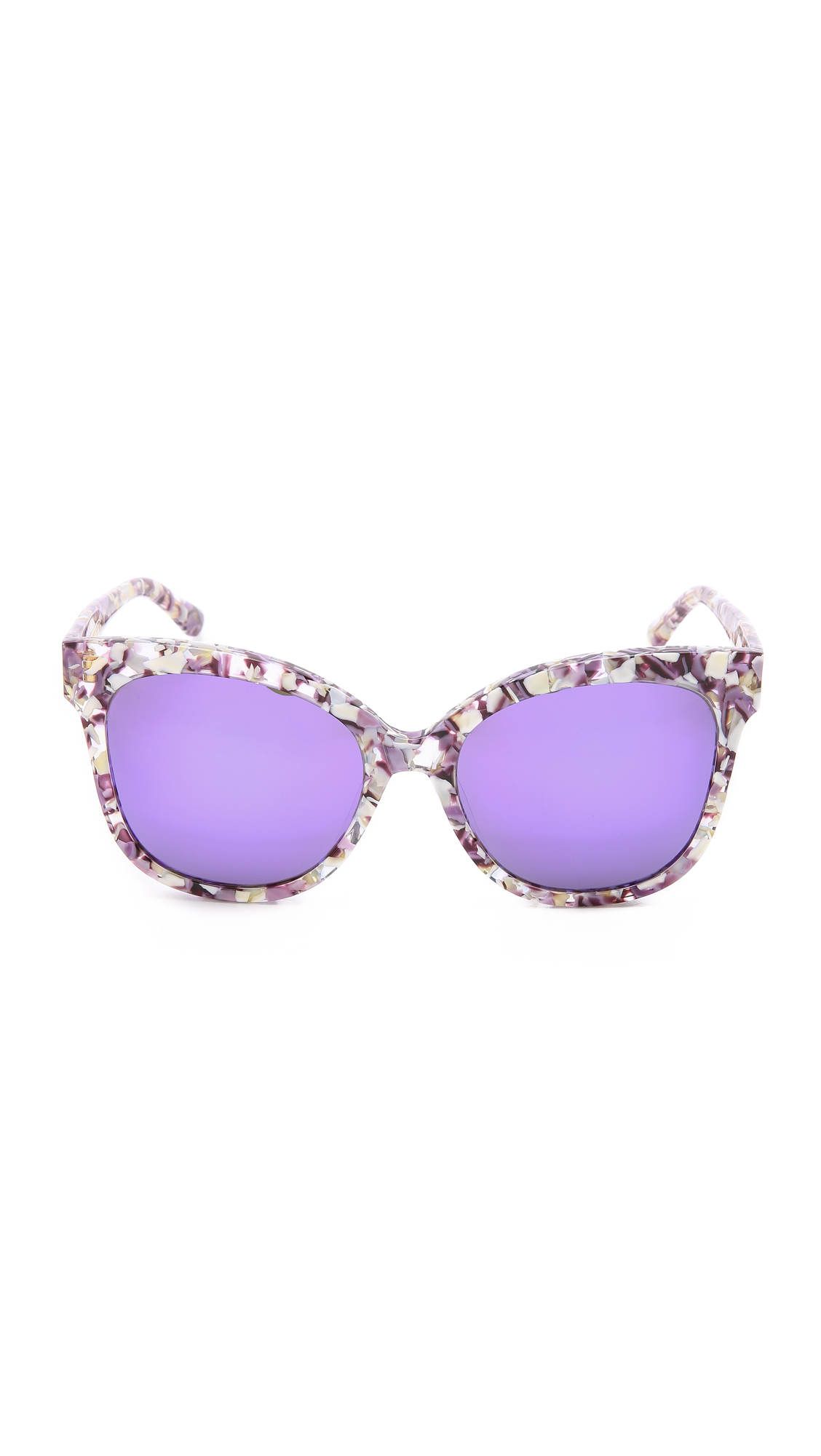 c6b630e6ccd Lyst - Gentle Monster La Rouge Sunglasses - Purple Floral Blue in Purple