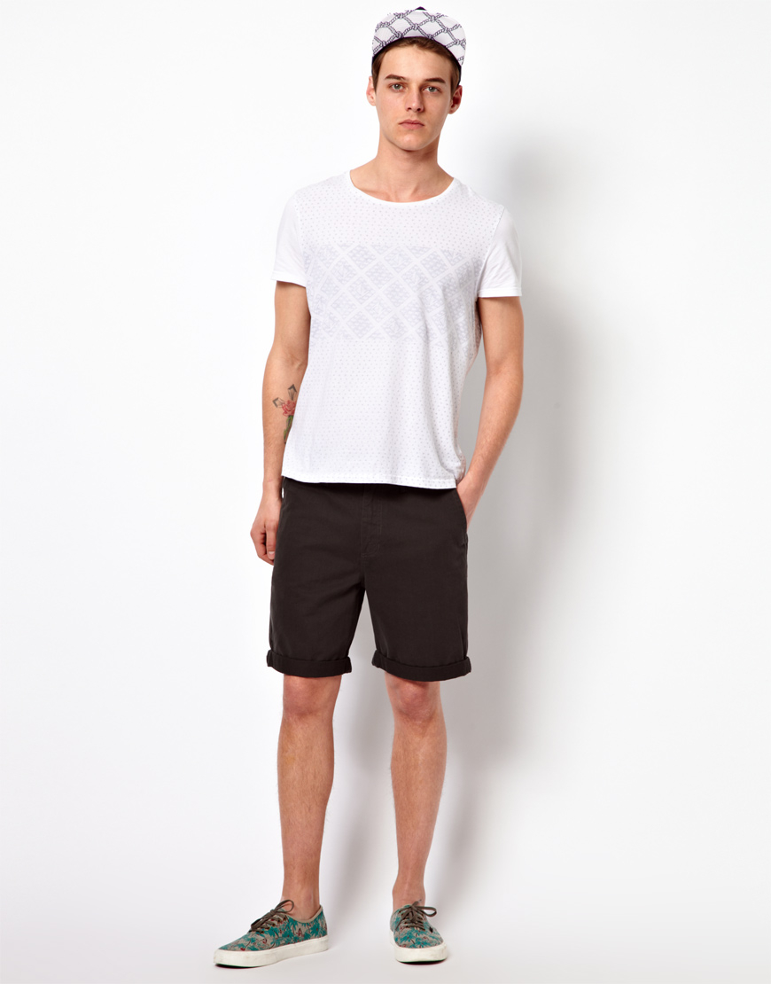 Lyst - Vans Chino Shorts Excerpt Washed Twill in Black for Men