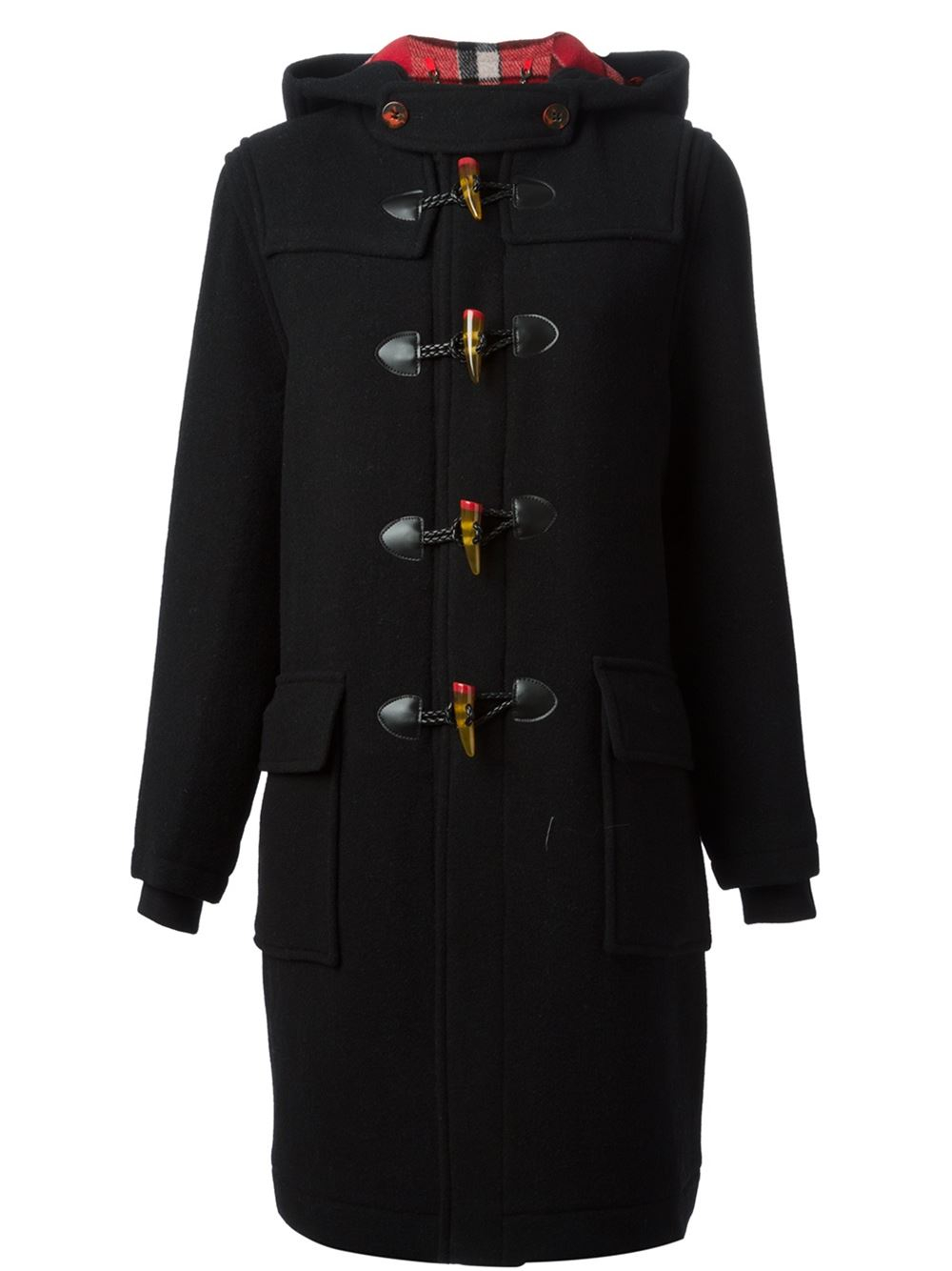 marc by marc jacobs 39 montgomery 39 duffle coat in black lyst. Black Bedroom Furniture Sets. Home Design Ideas