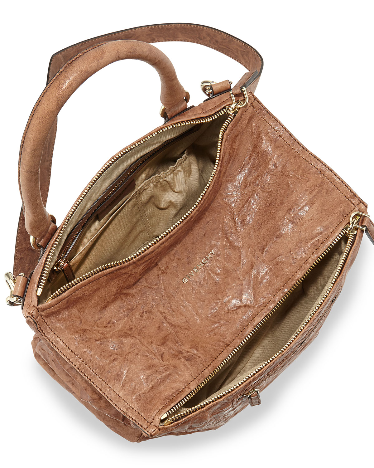 577254618a Lyst - Givenchy Pandora Medium Shoulder Bag in Brown