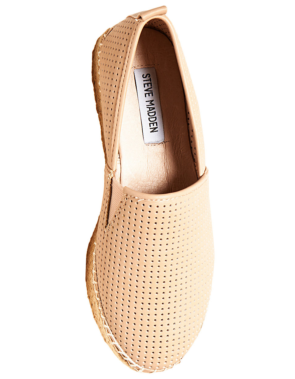 steve madden perforated faux leather slip on sneakers in
