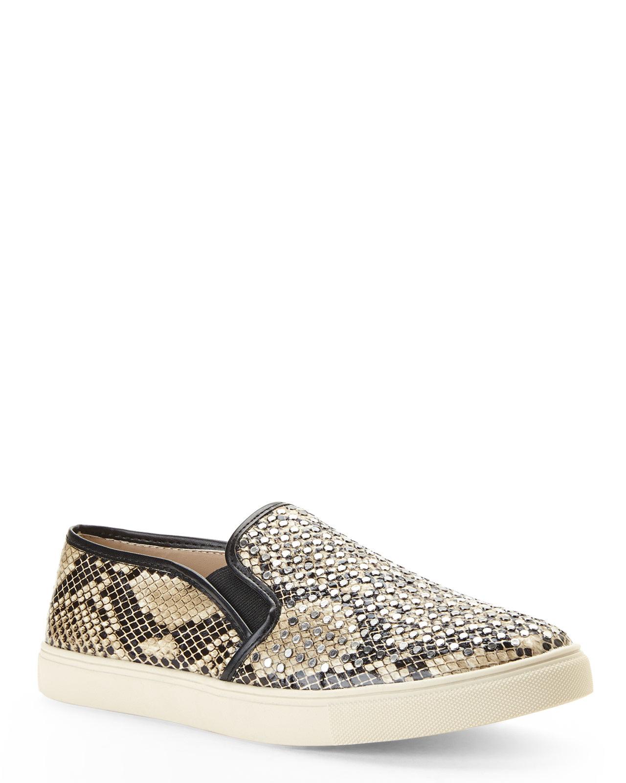 14fdb123122 Steve Madden Natural Snake Print Slip-on Sneakers