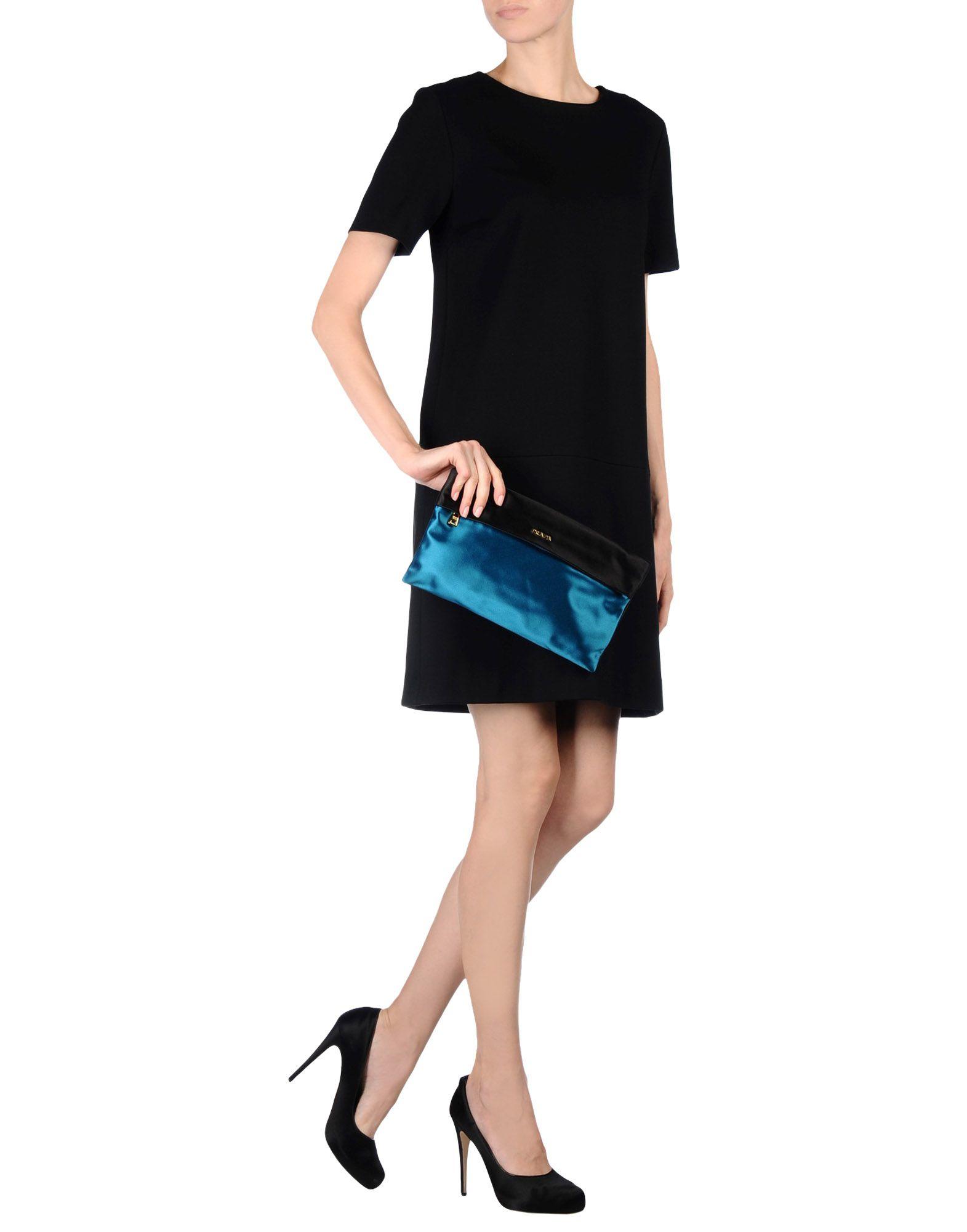 prada turquoise silk handbag
