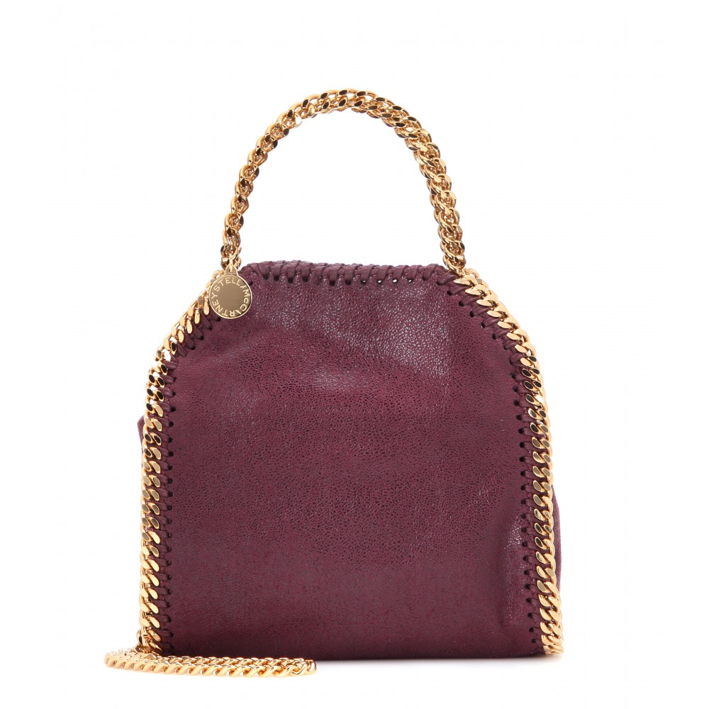 Lyst Stella Mccartney Falabella Tiny Shoulder Bag In Purple