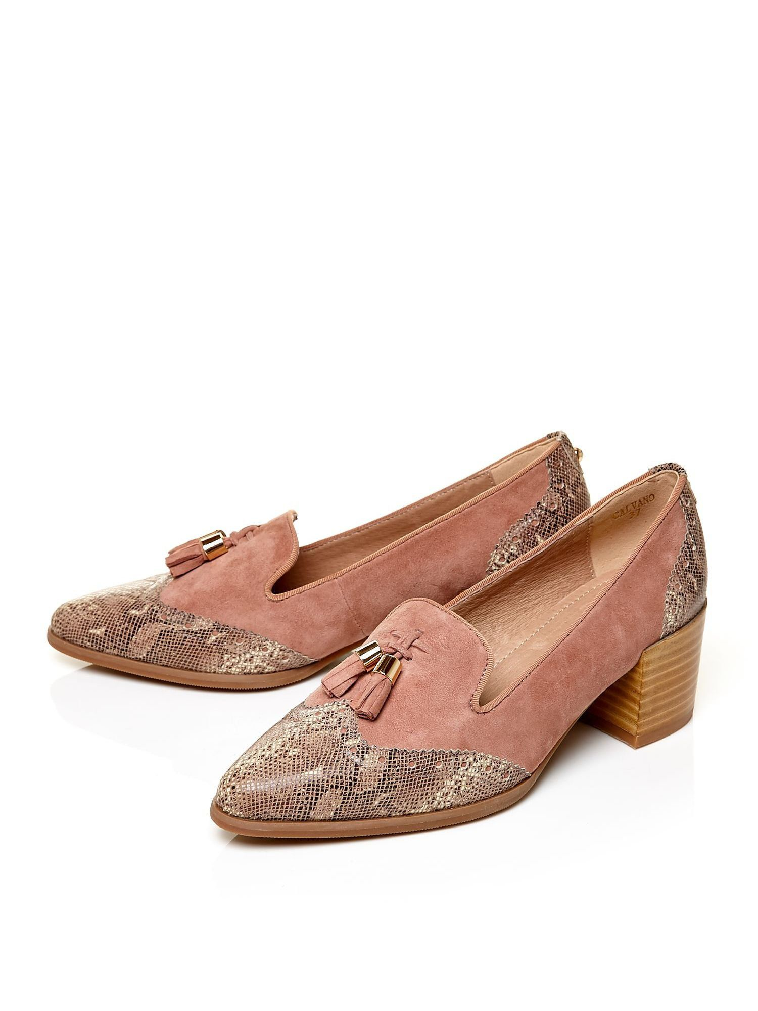 Moda In Pelle Calvano Medium Smart Shoes In Brown