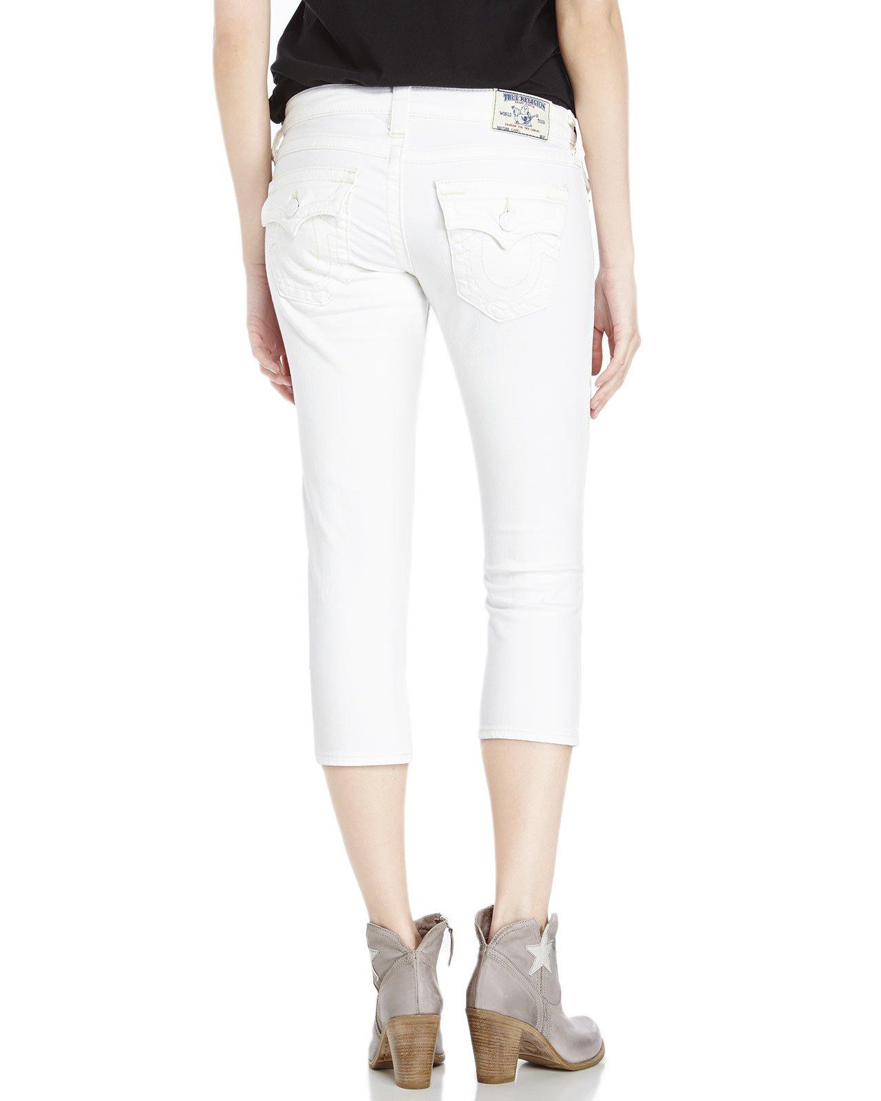 Lyst True Religion White Denim Capri Pants In White