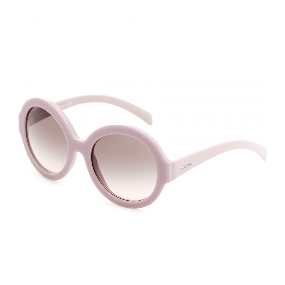 Prada Round Sunglasses  prada round sunglasses in purple lyst