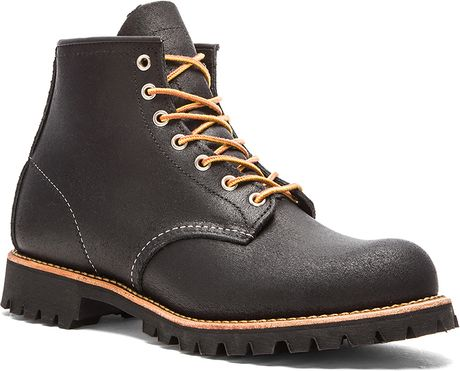 Red Wing 6 Quot Roughneck In Black For Men Black Spitfire Lyst