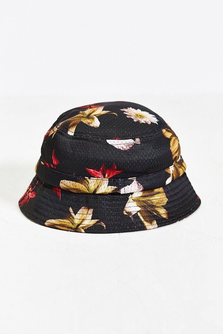 209850daaf5 Lyst - Stussy X Uo Floral Mesh Bucket Hat in Black for Men