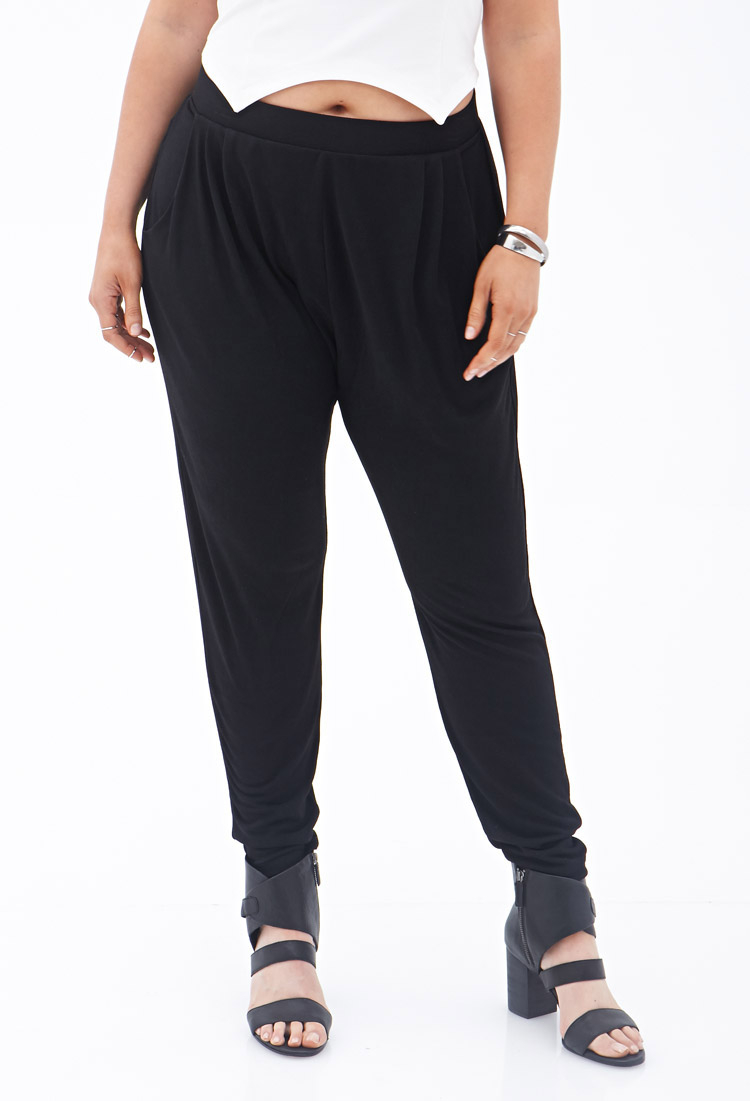 fe1f9498288 Lyst - Forever 21 Plus Size Knit Harem Pants You ve Been Added To ...