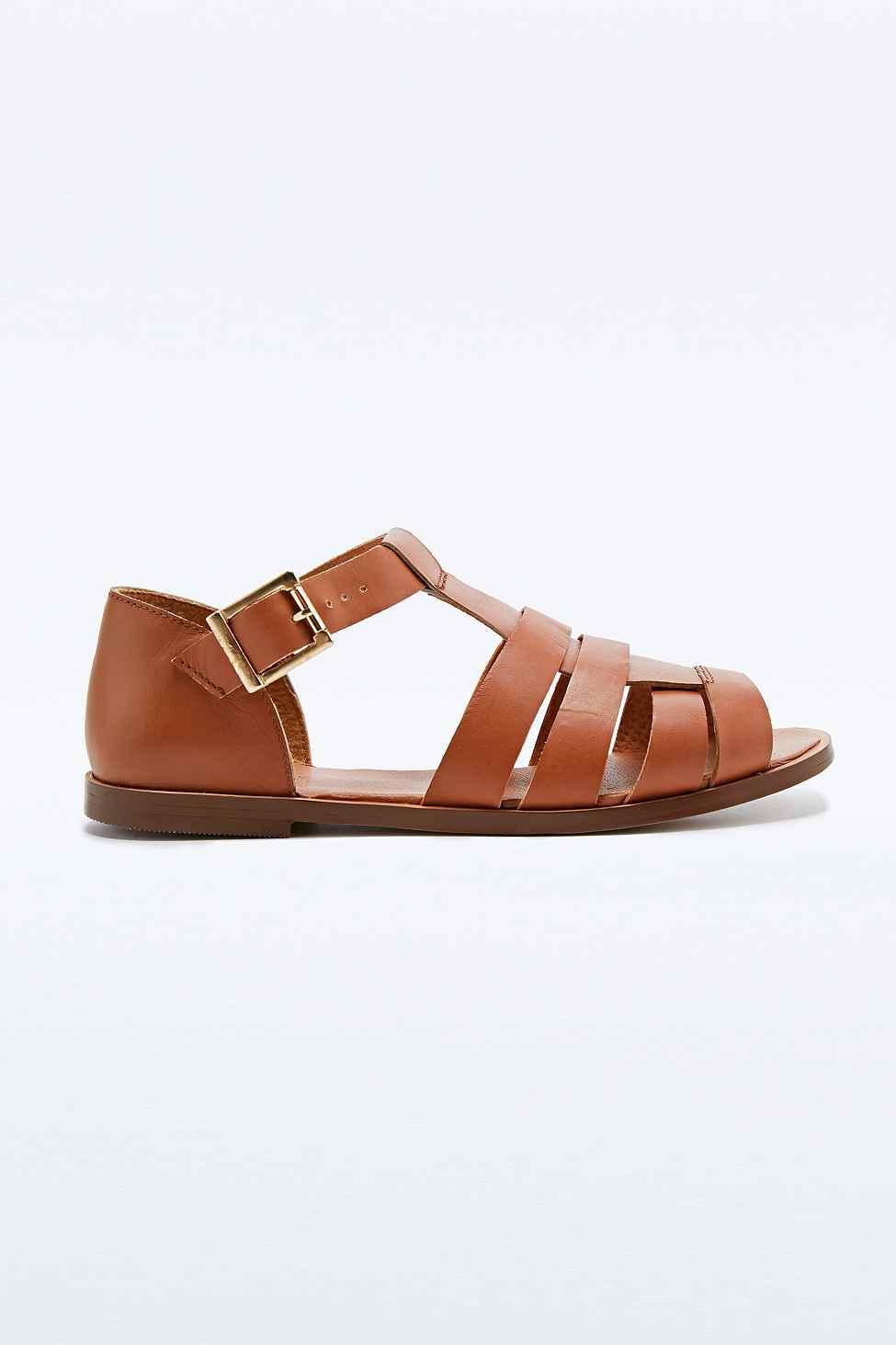 Deena \u0026 Ozzy Leather Joni T-Bar Sandals