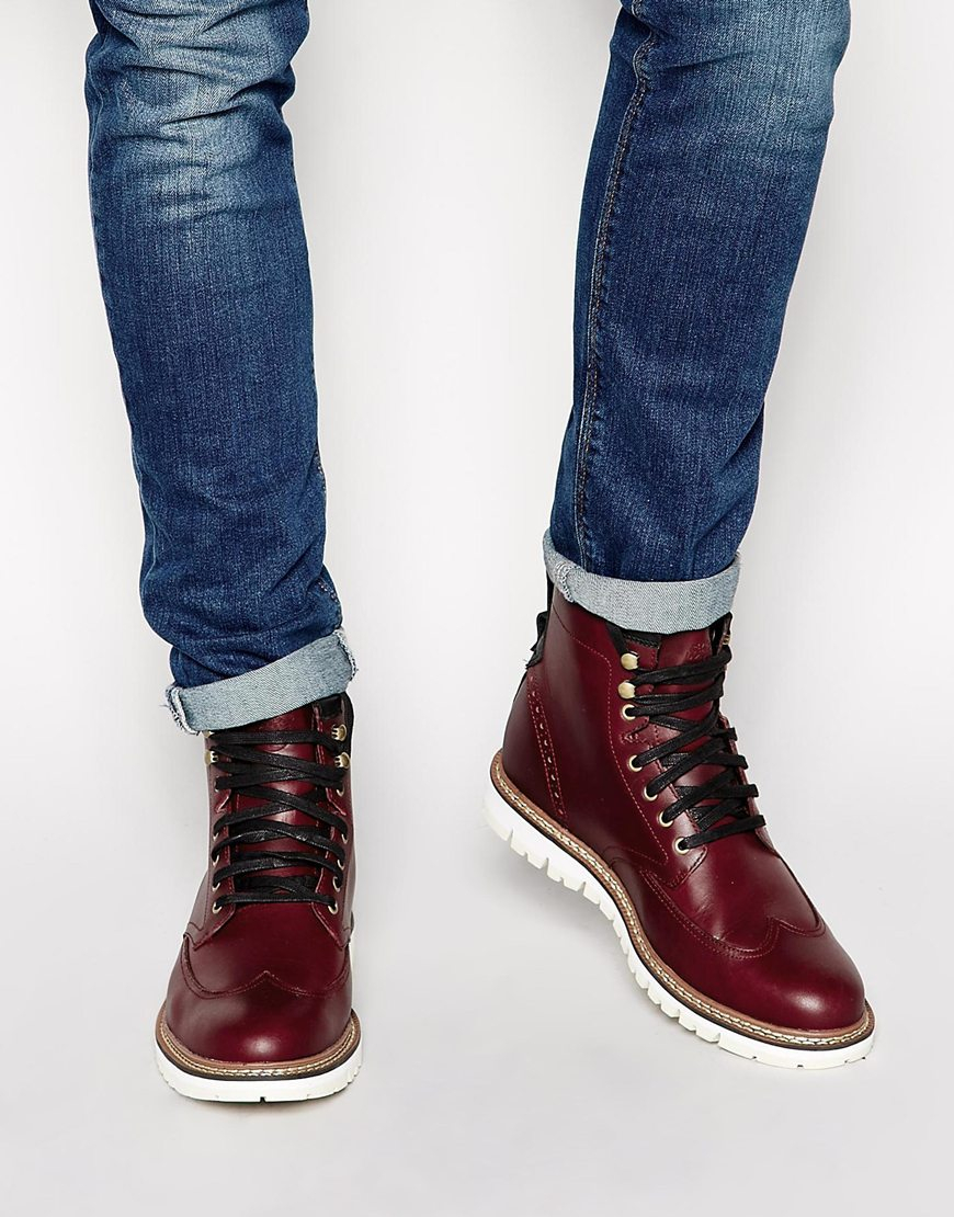 a419171ace4 Timberland Red Earthkeepers Wing Tip Boots for men