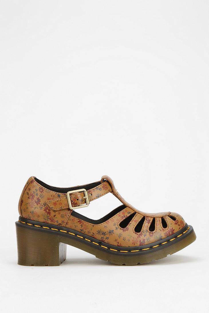 Dr Martens Jocelyn Printed Tstrap Heel In Brown Tan Lyst