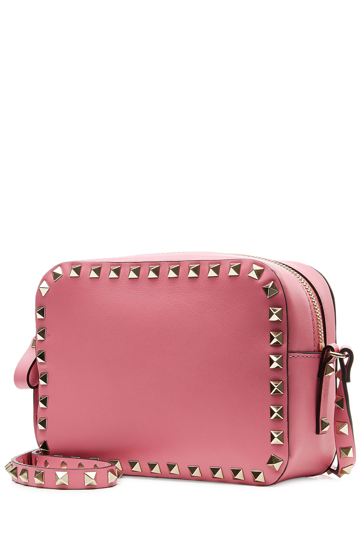 3ca7b7d0684b Valentino Leather Rockstud Camera Bag - Rose in Pink