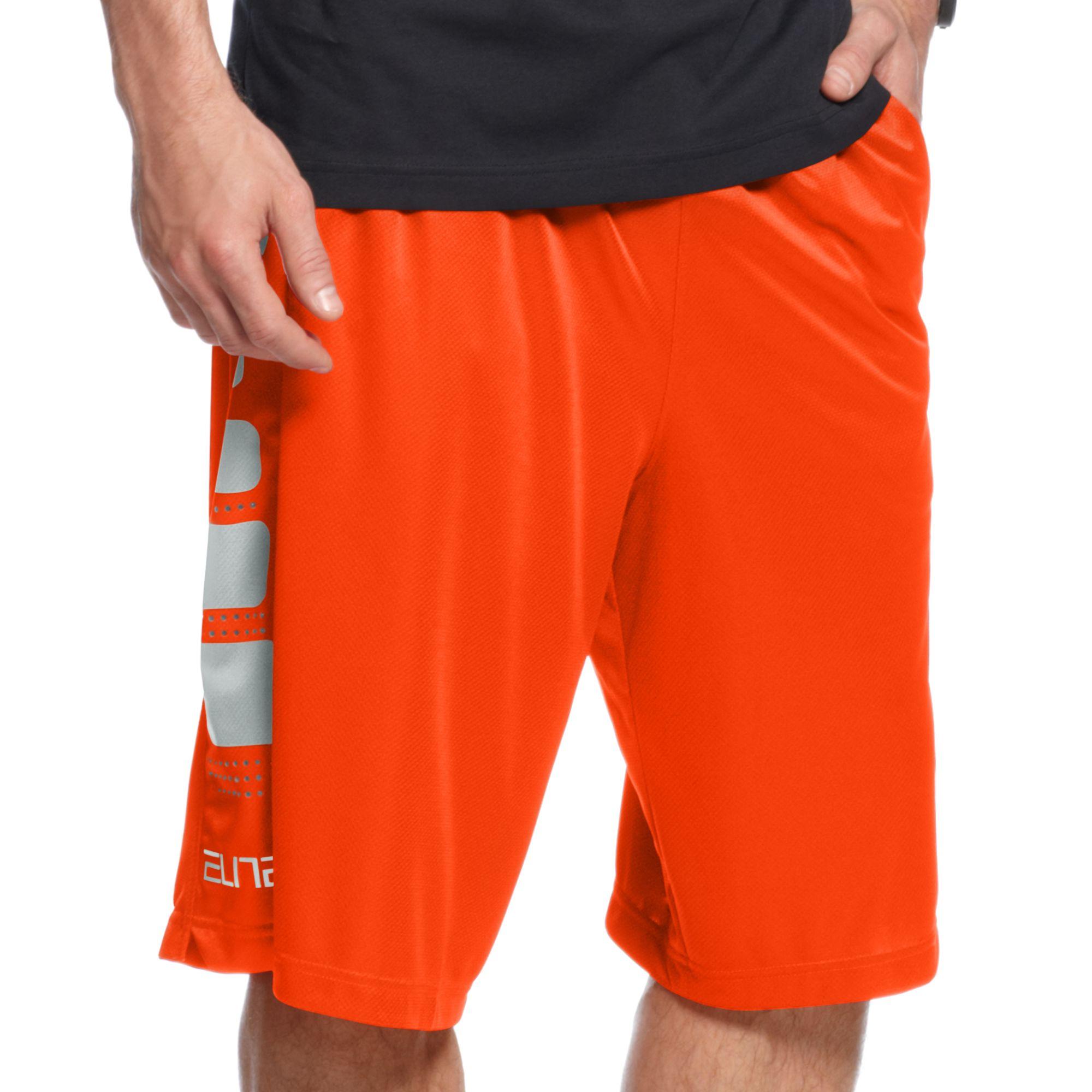 Nike Elite Stripe Basketball Shorts in Red for Men | Lyst