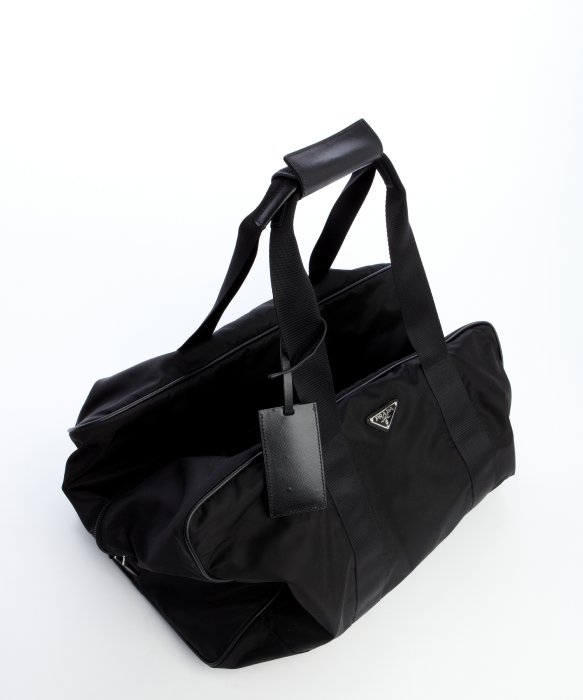 c3bc0d93f1dc ... purchase lyst prada black nylon large weekend bag in black for men  4e357 5712e