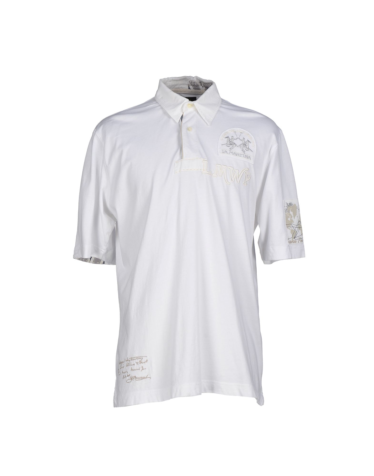 la martina polo shirt in white for men lyst. Black Bedroom Furniture Sets. Home Design Ideas