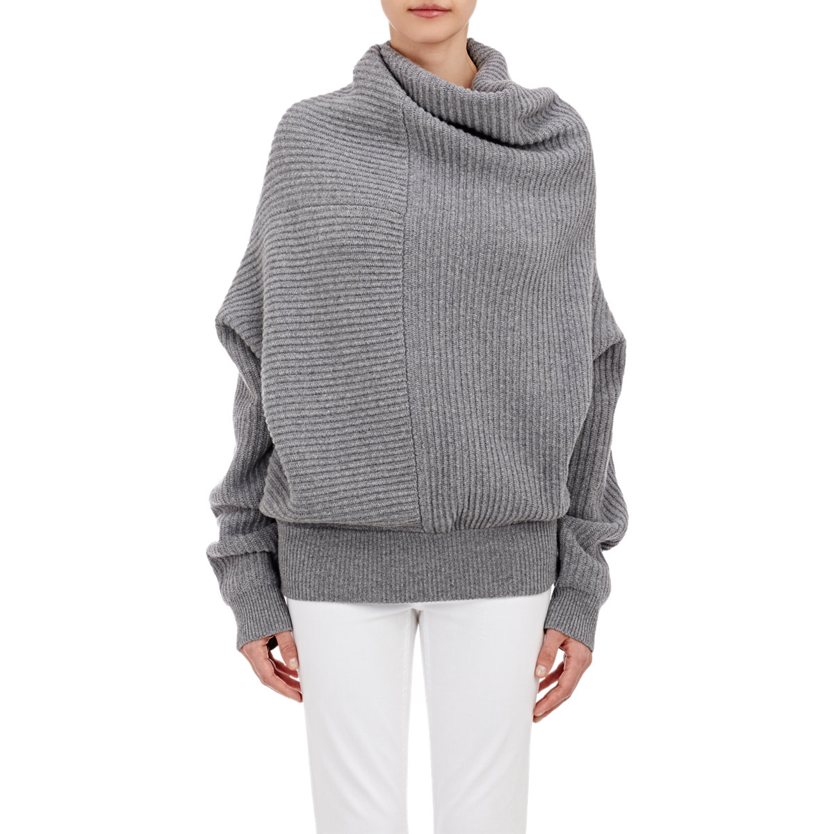acne studios oversized jacy turtleneck sweater in gray lyst. Black Bedroom Furniture Sets. Home Design Ideas